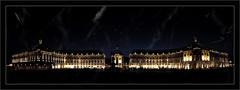 La Place de la Bourse (Jean-Louis DUMAS) Tags: bordeaux night dark ville panoramique architecture architecte art artist artistic artistique shot ciel bâtiment nuit route