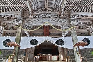 Togakushi-jinja Shrine with snowfall (sdQ SFD mode)