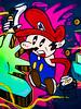 Super Mario (Steve Taylor (Photography)) Tags: supermario hat art cartoon graffiti mural streetart colourful contrast man newzealand nz southisland canterbury christchurch newbrighton outline token coin