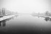 Alone in the winter (AL) (Ondablv) Tags: fog cloud nebbia ondablv cloudy fiume foschia winter alone composizione river tanaro alessandria invernale inverno snow neve