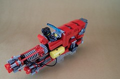 Taurus SpeederWorks: Red Giant (Greeble_Scum) Tags: lego speeder hover greeble engine bike vehicle city future cyber punk mini figure moc build creation