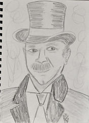 My Top Hat Man (BKHagar *Kim*) Tags: bkhagar art artwork artday kim portrait man tophat sketch drawing