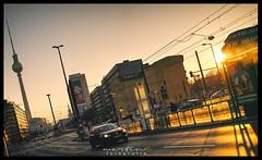 Prenzlauer Alle / Mollstraße (Krueger_Martin) Tags: berlin prenzlauerallee mollstrase strase street verkehr traffic stadt urban city car auto sonne sun sunshine sonnenuntergang sundown fernsehturm alexanderplatz architecture architektur weitwinkel wideangle 23mm fujifilm finepix x100 hdr photomatix colorful bunt farbig reflex