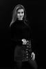Confidence is sexy (piotr_szymanek) Tags: marcelina marcelinab blackandwhite portrait studio woman girl milf skinny young longhair eyesoncamera mini skirt stockings face hand 1k 5k 20f 50f 10k 100f