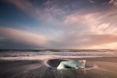 Iceberg Shadow (Sophie Carr Photography) Tags: jokulsarlon iceberg goldenhour sunset watertrails longexposure iceland