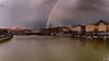 Quai de saône depuis le pont de la Feullée (imaginamateur) Tags: rivière rhône lyon rainbow arcenciel saône pluie