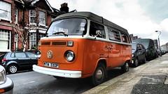 1976 VW T2 Camper. (ManOfYorkshire) Tags: vw volkswagen camper van t2 mtw330p orange 1584cc 16litre paterol engine 1976 brighton onstreet parked parking sussex uk gb original unmodified unrestored