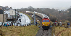 Pantyffordd Shed (studogs30) Tags: thevalleyofthewitch pantyffordd neathbreconrailway onllwyn 1z20 ukrailtours class66 dbc 66150 66230