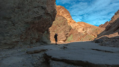 Death Valley National Park California.Golden Canyon (Feridun F. Alkaya) Tags: nps ngc coyote usa nationalpark zabriskiepoint sanddunes jackal desert dvnp deathvalley california mesquiteflatdunes dunes saltflats salt sky landscape artistpalette artistdrive mount goldencanyon deathvalleynationalpark