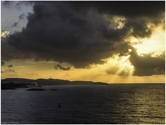 St. Thomas Sunrise (Luc V. de Zeeuw) Tags: caribbean caribbeansea clouds cloudy cruise hills houses landscape mountain sea stthomas sun sunrise usvirginislands water southside
