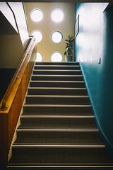 Deco (Keith Midson) Tags: staircase stairs stairwell artdeco steps windows tasmania tasmanpeninsula