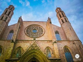 Basilica of Santa Maria del Mar in the old town of Barcelona-P1004