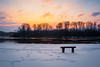 Sunset with snowfall (Pásztor András) Tags: sunset snow nature winter season scenic sky tree park weather blue cold bench forest outdoors sunlight frost sun travel natural white ice frozen scene january tranquil december light branch beauty silence space temperature sunbeam made cloud life landscapes image colors idyllic christmas view nopeople covered dslr full frame nikon d700 andras pasztor photography 2018 hungary yongnuo 35mm f2