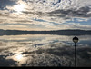 Reflection on the Tay, Dundee (corkytoadhall) Tags: tay scotland clouds sky estuary rivet reflection water