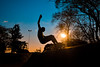 skateboarding with sunset (Ruan Richard Photography) Tags: skate skater skateboard skateboarding nikon ruanrichardphotography heeybooy rrphotography sky silhouett silhueta visualscreatives awesome amazing brazil cool city street urban esporte sport extreme light sunset square outdoor park summer style boy sun flickrunitedaward