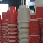 Set of red cups Danilovsky Market, Moscow, Russia thumbnail