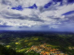 Colorful City - Soft Version (antoramp) Tags: afternoon clouds toscana tuscany colline hills hdr relax serenity tranquillità