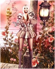 puppeteer and roses (Kaheyry) Tags: pp pack powder catya roses pumec hair life second sl art beautiful cute ison body maitreya pink pet dress skin catwa