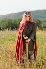 Warrior Princess (good.fisherman) Tags: girl beauty beautiful eyes face hair pretty young summer warrior sword traditional historic historical female culture history reenactment
