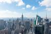 Top of the Rock (MikePScott) Tags: bankofamericatower buildings builtenvironment camera clouds empirestatebuilding featureslandmarks hudsonriver lens manhattan newyork newyorkcity nikon2470mmf28 nikond600 river rockefellercenter sky skyscraper topoftherock topography usa waterway