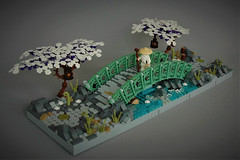The journey... (adde51) Tags: adde51 lego moc bridge technique asian creek stream water elves cherryblossom tree