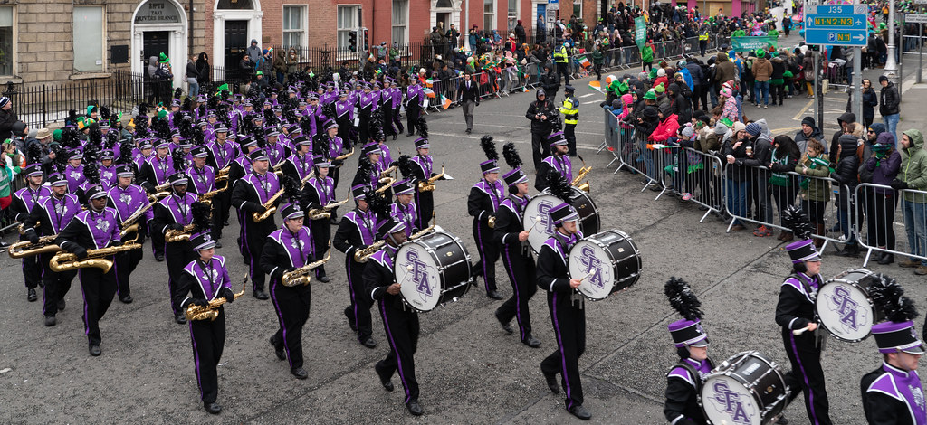 THE LUMBERJACK MARCHING BAND IN ACTION [ ST. PATRICKS DAY PARADE IN DUBLIN 2018]-137586
