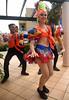 Dance with Us! (Poocher7) Tags: people dancers costumes cuban cubandancers portrait smile colourful pretty lovely beautiful orange male female outdoors shoes blackshoes turban bigearrings redlips varadero cuba carribean fun music cutegirl