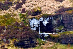 Ice on the rocks (rustyruth1959) Tags: nikon nikond5600 tamron16300mm uk yorkshire calderdale hebdenbridge widdop widdopmoor moorland moors icicles ice pool rocks reflections pond water grass scrub stone hummock outdoor landscape hill