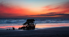When the Sun Goes Down (ebhenders) Tags: peter iredale sunset oregon fort stevens state park silhouette pacific ocean