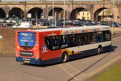 SW 28693 @ Kilmarnock bus station (ianjpoole) Tags: stagecoach western scania k230ub alexander dennis enviro 300 yn64ahf 28693 working route 4 ayr bus station glasgow buchanan street