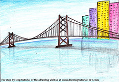 City Bridge Scenery (drawingtutorials101.com) Tags: city bridge scenery bridges scenes color pencils sketching pencil sketch drawing sketches draw drawings speeddrawing colors how speed