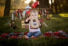 Colt's 1st Birthday Cake Smash (CBAphotographs) Tags: marypattoncba mary patton cba photography photographerinmodesto centralvalley baby babyboy 1stbirthday cakesmash log letters happy beautiful sunset greens balloons party