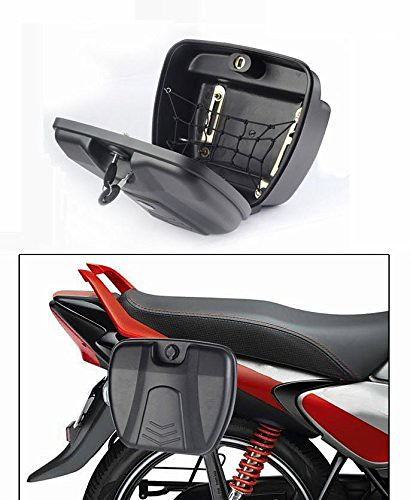 Accedre Bike Stylish Side Luggage Holder With Lock
