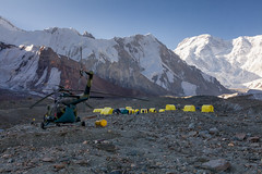 Travelling in Kyrgyzstan (Joost10000) Tags: mountains snow glacier inylcheck basecamp tienshan mountain travel helicopter adventure outdoors wild wilderness kyrgyzstan asia centralasia canon canon5d eos nature natur landschaft landscape alpine tent beauty