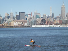 Paddling on the Hudson River, New York City (lensepix) Tags: paddling hudsonriver newyorkcity skyline newyorkskyline
