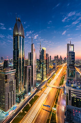 _MG_3441 - Dubai flows (AlexDROP) Tags: 2018 dubai uae travel architecture skyline skyscraper tower color city wideangle urban scape canon6d ef16354lis best iconic famous mustsee picturesque postcard bluehour hdr long exposure