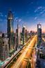 _MG_3441 - Dubai flows (AlexDROP) Tags: 2018 dubai uae travel architecture skyline skyscraper tower color city wideangle urban scape canon6d ef16354lis best iconic famous mustsee picturesque postcard bluehour hdr long exposure