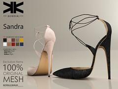 Sandra :: Woman Shoes :: 10 Colors ({kokoia}) Tags: sandra kokoia stilettos shoes heel shoe avatar sandals summer maitreya slink belleza high night secondlife 3d