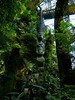 Standing Like This is Hard on the Knees (Steve Taylor (Photography)) Tags: fern art sculpture carving blue green sad wooden wood asia singapore flora foliage leaves tree cloudforest gardensbythebay heddress walkway jar necklace plinth