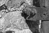 Nut & Bolt (enneafive) Tags: nut bolt rust texture sharp unsharp iron stone brick light shadow fujifilm xt2 monochrome