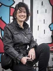 Tineke, Amsterdam 2018: Natural charm (mdiepraam) Tags: tineke amsterdam 2018 ndsm portrait pretty attractive beautiful elegant classy gorgeous dutch brunette girl woman lady naturalglamour leather jacket graffiti