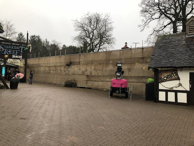 A new construction wall in Mutiny Bay