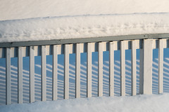 'HFF' (Canadapt) Tags: fence railing shadow snow pattern graphic winter keefer canadapt