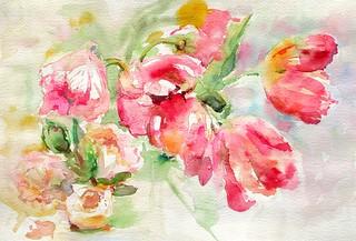 Les tulipes. 1° version