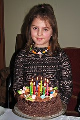 one more candle than year ago ;) (green_lover) Tags: martynka girl daughter children birthday birthdaycake candles people portrait nine 7dwf