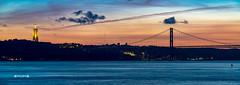 Tagus in blue (José M. F. Almeida) Tags: lisboa lisbon tagus tejo portugal sunset