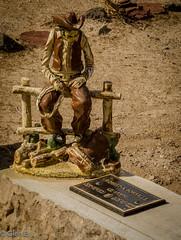 """Miss you Buddy."" (nebulous 1) Tags: cemetary newmexico grave headstone poignant nikon nebulous1 glene watching waiting friend buddy pathos sorrow compasion"