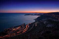 Saint-Jean-Cap-Ferrat / Cap d'Ail (Alex Lud) Tags: alexlud france saintjeancapferrat capdail frenchriviera côtedazur city urban night sunset europe laturbie roads sky
