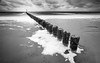 Westkapelle rouch sea (Aljaž Vidmar | ADesign Studio) Tags: wood longexposure waves sand netherlands zeeland roughsea motion westkapelle contrast foam seascape holland blackandwhite poles clouds