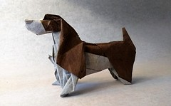 Basset Hound (mrmicawer) Tags: papiroflexia origami papel basset hound perro dog